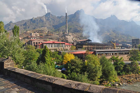 smelter: Alaverdi copper smelter, before - copper-chemical. Copper and molybdenum refinery. Alaverdi is an industrial city in Armenia
