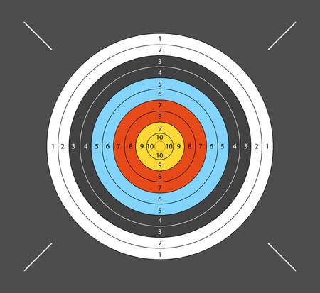 Aim for archery, crossbow, on dark background. Vector illustration for your designs.