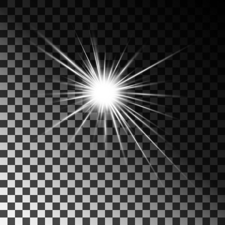 Light bright flashes are white. On isolated transparent background. Vector. Eps 10.
