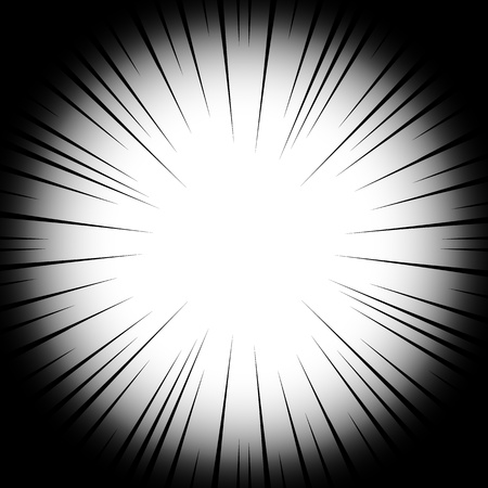 Background radial lines on a white background. Comic book speed, explosion. Vector illustration for graphic design. Eps 10. Illustration