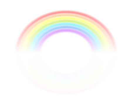 Rainbow isolated on a white background. Vector illustration for your design. The symbol of the ended rain. Eps 10.