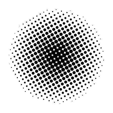 Elemento cerchio mezzitoni, su sfondo bianco. Illustrazione vettoriale per il tuo design. Eps 10. Vettoriali