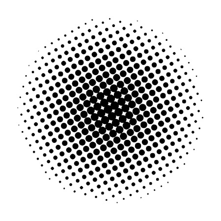 Item halftone circle, on a white background. Vector illustration for your design. Eps 10. Vector Illustration