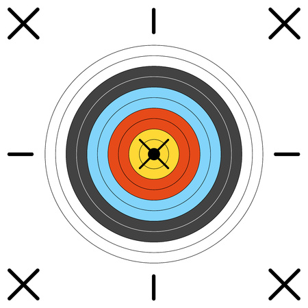 Aim for archery, crossbow, on white background. Vector illustration for your designs. Eps 10.