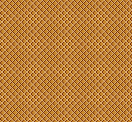 Waffle pattern. Chocolate wafer confectionery texture. Vector illustration for your design. Eps 10.