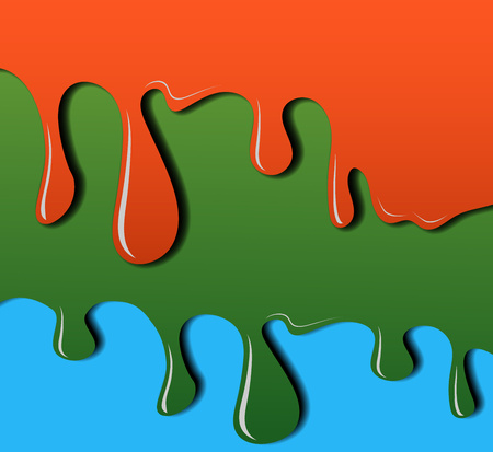Color dripping, stretching paint. Falling drops. Vector illustration for your design. Eps 10.