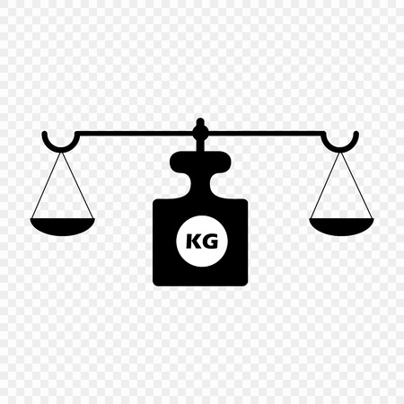 Scales on an isolated transparent background. Vector scales. The concept is a symbol of justice. Eps 10.