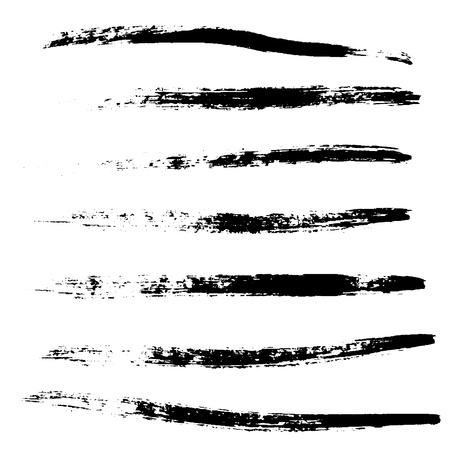 A selection of brushes black. Grunge vector brush elements for your design. Eps 10.