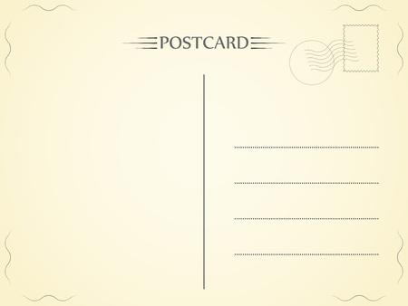 Postcard. Letter with a light texture. Paper telegram. Vector illustration. Eps.
