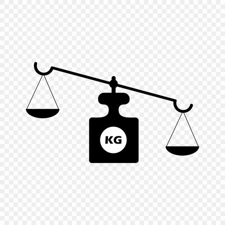 Scales on an isolated transparent background. Vector scales. The concept is a symbol of justice. Eps 10. Stock fotó - 127622894