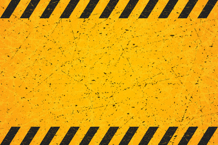 A Worn Black Striped Rectangle. Scratched Blank Warning Sign. Vector illustration. Eps 10.