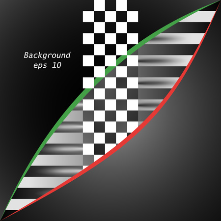 Racing square background. Vector abstraction in racing, chess style with space for your text. Illustration for your design. Eps.