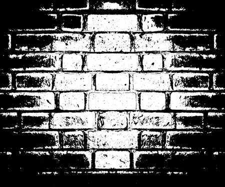 Vector monochrome grunge background. Illustration of brick wall texture. Grunge Distress Sketch Stamp Overlay Effect. Eps.