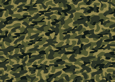 Camouflage seamless background. Vector military texture. Abstract army and hunting masking ornament. Eps. Ilustrace