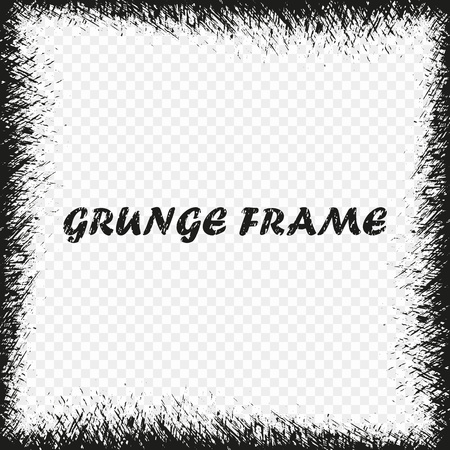 Vector Grunge Frame. Distress Background. Design element isolated on a transparent background. Eps.