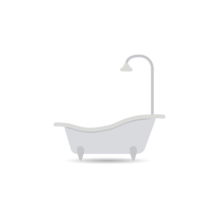 Bathtub icon. Bathtub vector isolated on a light background. Element for your design. Eps.