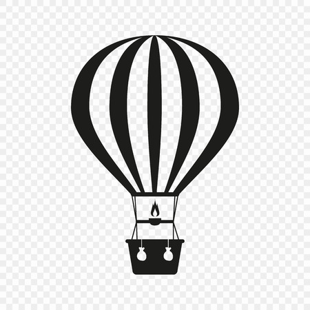 Hot air balloon. Icon on isolated background. The concept of vacation, travel. Template design. Vector illustration for your ideas. Eps. Ilustração