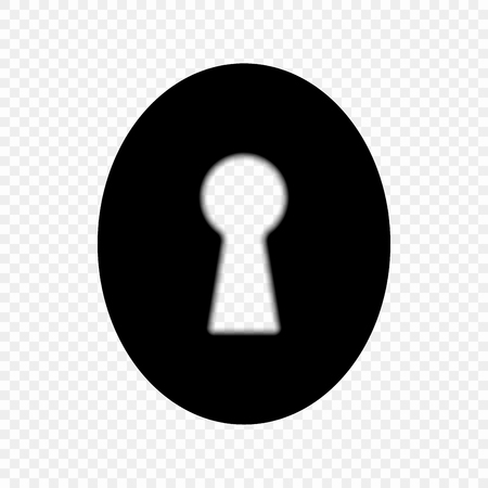 Keyhole light on isolated transparent background, icon. Concept is the key to business success, solution is the idea. Vector symbol for web design or mobile application. Eps.