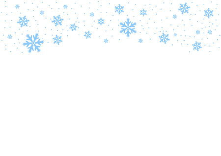 Vector falling blue snow on isolated background, possibility of overlay. Place for text. Winter, Christmas texture. Eps. Vektoros illusztráció