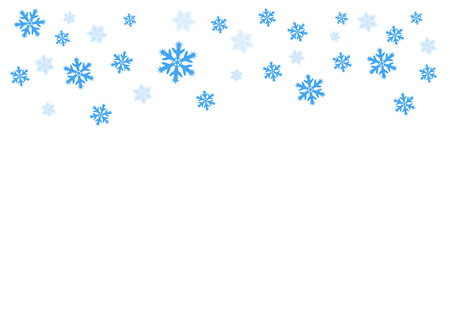 Vector falling blue snow on isolated background, possibility of overlay. Winter, Christmas texture. Place for text. Eps. Çizim