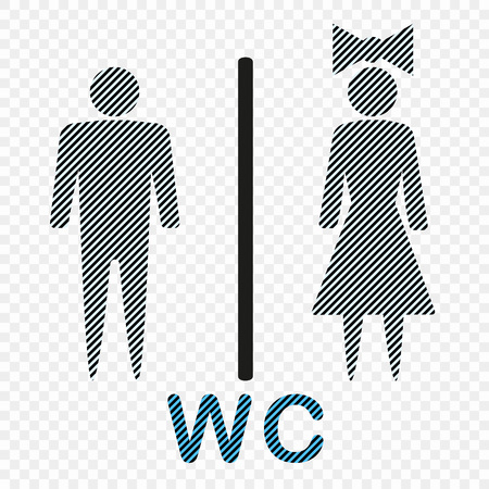Vector icon denoting man and woman, symbol. Illustration isolated on a light background. Eps.