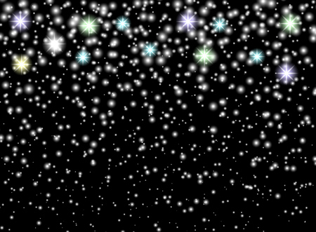 Falling snowflakes on isolated background. Overlay design element. Christmas decorations. Vector illustration. Eps.