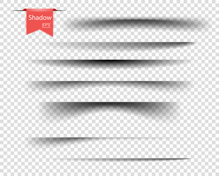 Set van vector transparante overlay schaduwen. Realistische ontwerpelementen op een geïsoleerde transparante achtergrond voor uw ontwerp. EPS. Vector Illustratie