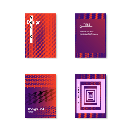 A selection of Color covers. Abstract design, in cool colors with gradient. Vector template for your works. Eps. 矢量图像