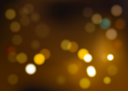 Illustration of different shades of yellow tones, bokeh. Vector abstract background, blurring focus. Eps.