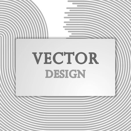 Vector abstract illustration banner, poster monochrome stripes, lines with space for text. Isolated light background.