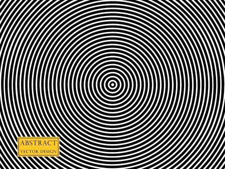 Vector illustration of radiating, concentric circles. Overlay pattern element, monochrome style. Isolated background. Illusztráció