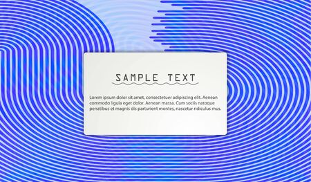 Vector abstract illustration banner, poster colored stripes, lines with space for text.