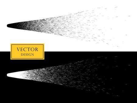 Vector design element spray or comet tail, meteorite. The object on an isolated background.