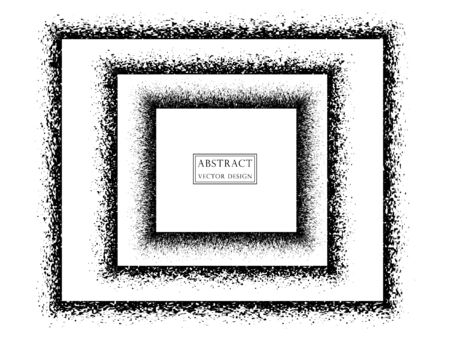 Abstract illustration of monochrome square frames. Vector illustration isolated light background. Illusztráció