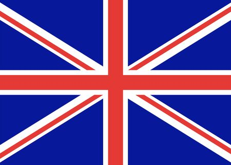 Flag of great Britain, official state. A distinctive sign of the English United Kingdom. Vector color illustration. flag of England.