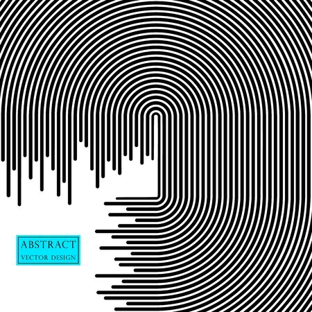 Abstract vector line of traffic. Stripes illustration banner, poster monochrome flat style. Template with the ability to overlay. Space for text. Isolated light background.