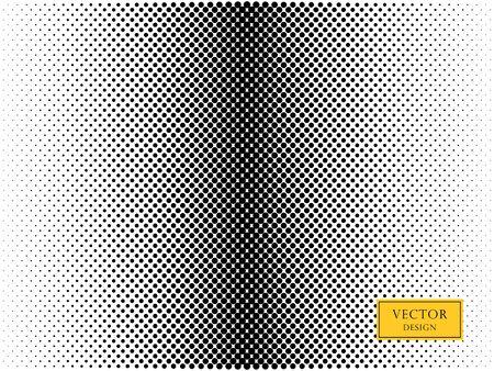 Vector abstract, retro halftone dots. Overlay element. Black dots, circles on a light isolated background. Illusztráció