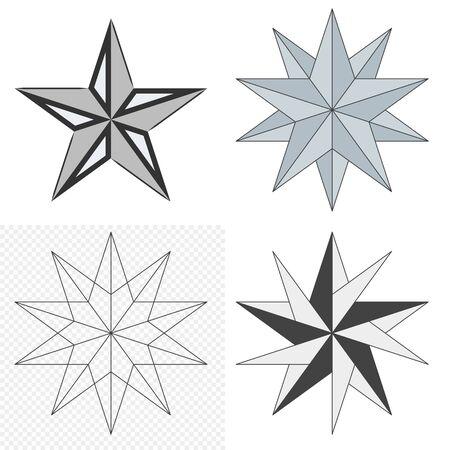 Stars selection icon. Elements on an isolated background. Illusztráció