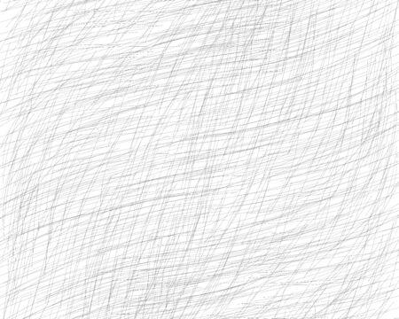 Dibujado a mano rayado con un lápiz. Líneas finas grises oblicuas, garabatos