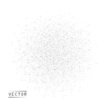 Abstract vector round particles, grains of sand, gradient noise. Grunge texture overlay with fine dissolving particles on isolated white background. Possibility of overlay.