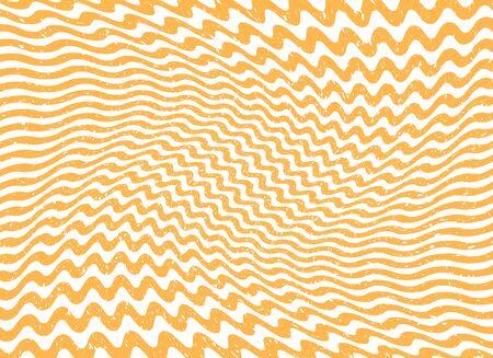 Streszczenie pomarańczowa fala paski linie. Ulga falisty falisty grunge stary zużyty efekt. Wektor ilustracja szablon, tło. Ilustracje wektorowe