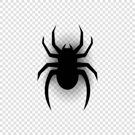 Abstract spider silhouette with shadow.