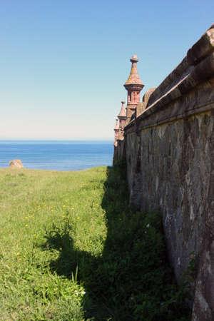 graveyard over the sea Stock Photo