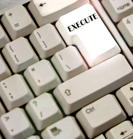 faster: keyboard with execute  key highlighted