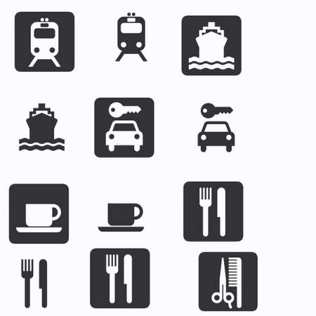 cip: transport, travel and eating icons
