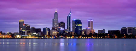 perth: dusk shot of beautiful perth Stock Photo