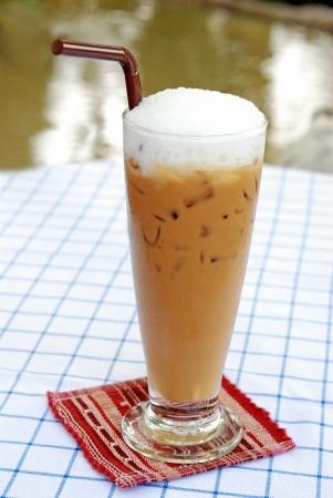 fredo: ghiaccio Mocca caff� con schiuma di panna Archivio Fotografico