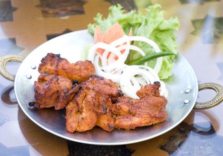 Chicken tandoori, popular Indian style cuisine Stock Photo
