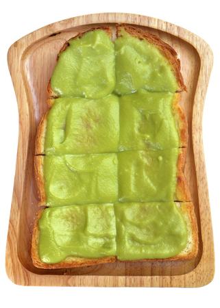 kaya: Isolated Toast with Kaya egg custard on white background