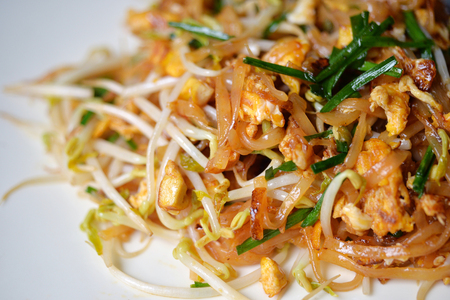 pad: Selective focus of Thai stir fry noodle, popular Pad Thai